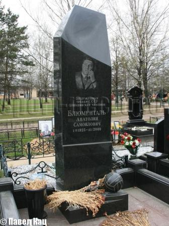 Могила Блюменталя Анатолия.